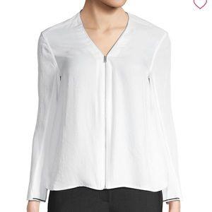 Rag & Bone Vanessa zippered white top NEW Small